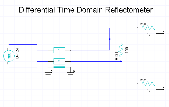 Time Domain Reflectometer : Differential tdr — ansoft designer 在线帮助文档,ansys
