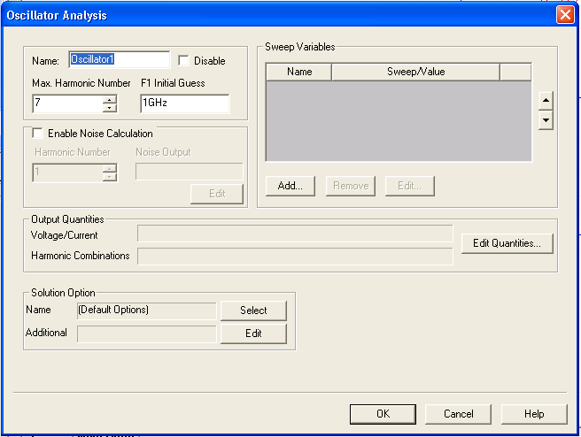 Running Single-Tone Oscillator Analysis from the Schematic