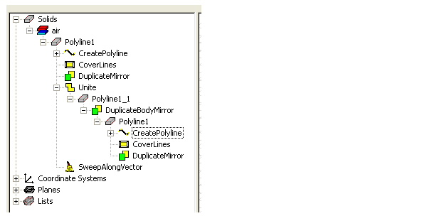 View and Edit Commands on History Tree Objects - HFSS教程